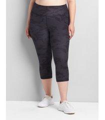 lane bryant women's livi high-rise livi soft capri legging with pockets 10/12 ritzy camo