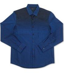 alfani men's croydon woven shirt, created for macy's