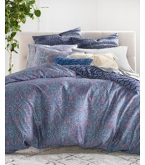 lucky brand etch scarf full/queen 3-pc. duvet set bedding