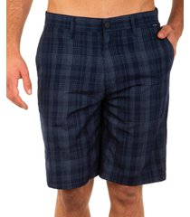"hurley men's granada 22"" plaid shorts"