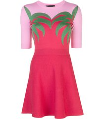 boutique moschino fine knit skater dress - red
