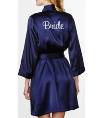 wedding prep gals plus size embroidered 'bride' robe, online only