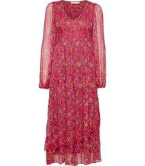 claudette dress knälång klänning röd odd molly