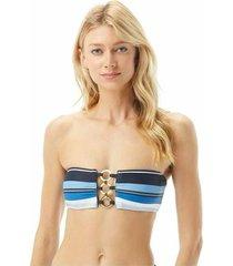 bikini top large stripe bandeau