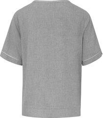 blouse met korte mouwen van day.like grijs