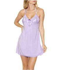 icollection-alicia cotton blend day and night lace chemise nightgown