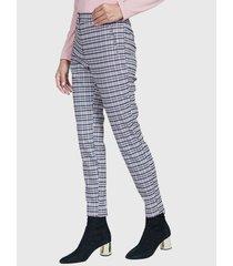 pantalón ash de vestir multicolor - calce ajustado