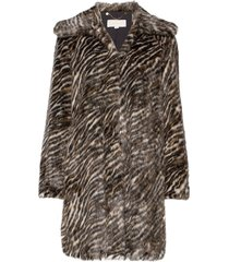 safari faux fur coat outerwear faux fur multi/patroon michael kors