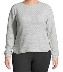 john paul richard plus size metallic pullover sweater