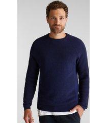sweater hombre azul acero esprit