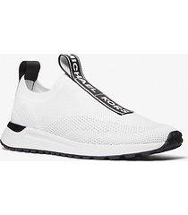 mk sneaker bodie slip-on in mesh con logo - bianco ottico (bianco) - michael kors