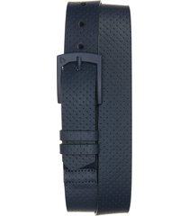 men's cuater by travismatthew pulatus perforated leather belt, size 36 - blue nights