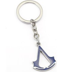 blue 10/lot assassins creed charm key chain key ring chaveiro pendant souvenir
