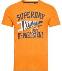mascot varsity tee t-shirts short-sleeved orange superdry