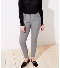 loft checked skinny ankle pants in curvy fit