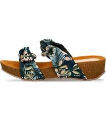 sandalias de plataforma azul bata xolo r mujer