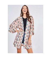 kimono estampa morangos