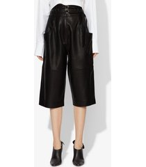 proenza schouler belted leather shorts black 4