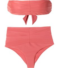 esc astro high-rise bikini set - red