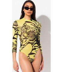 akira look at you long sleeve mesh bodysuit