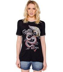 t-shirt estampa dragão colcci