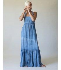 athena tank dress - blue jean