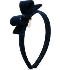 monnalisa velvet thin headband - blue