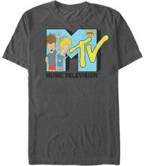 mtv men's beavis and butthead head bangers logo short sleeve t-shirt