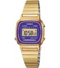 reloj casio la-670wga-6d-dorado