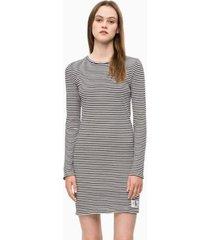 vestido slim ribb gris calvin klein