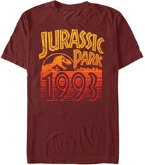 jurassic park men's retro logo 1993 short sleeve t-shirt