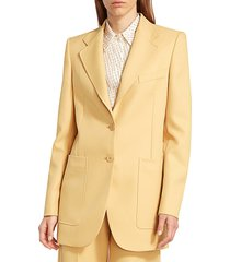 stella mccartney women's amanda jacket - camomille - size 42 (8)