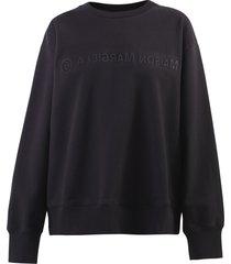 mm6 maison margiela relaxed fit sweatshirt