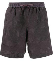 stone island shadow project elasticated waist shorts - grey