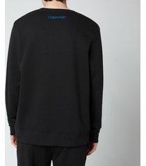 calvin klein men's chest logo sweatshirt - black - xl