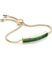 baja green onyx bracelet, gold vermeil on silver