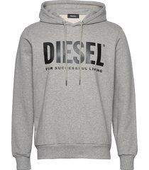 s-gir-hood-division-logo sweat-shir hoodie trui grijs diesel men