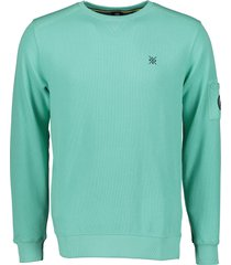 lerros sweater - regular fit - groen