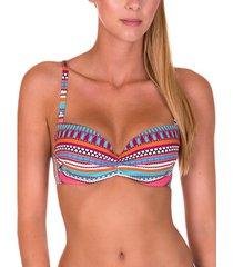 bikini lisca capri koraal voorgevormd badpak topje