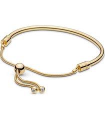 bracelete rígido pandora shine crie & combine cordão pandora