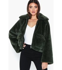selected femme slftrina faux fur jacket faux fur