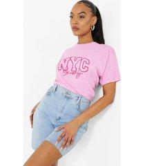 overdye nyc t-shirt, pink