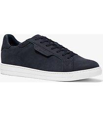 mk sneaker keating in pelle nabuk - indaco scuro (blu) - michael kors
