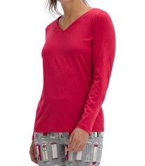hue solid v-neck pajama t-shirt