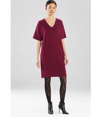 natori angkor v-neck dress, women's, silk, size m