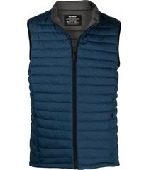 ecoalf padded recycled polyester gilet - blue
