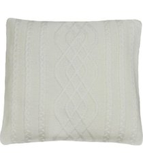 capa almofada tricot 45x45cm c/zãper sofa trico cod 1026 off white - bege - feminino - dafiti