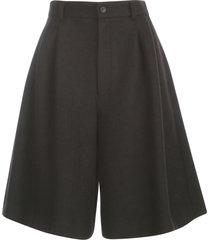 comme des garçons polyester wool compressed knit shorts