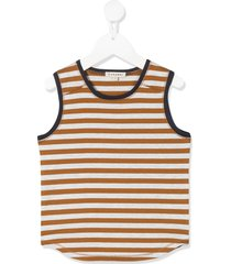 caramel aldwych striped tank top - brown