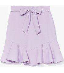 womens dance frill dawn belted mini skirt - lilac